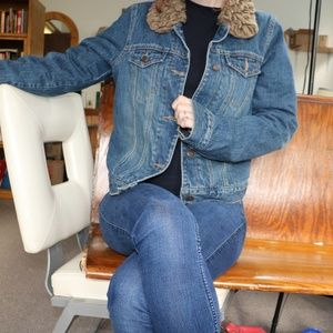 Abercrombie & Fitch Fur Lined Jean Jacket